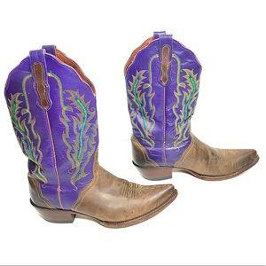 Nocona Cowboy Boots PURPLE Unique Western